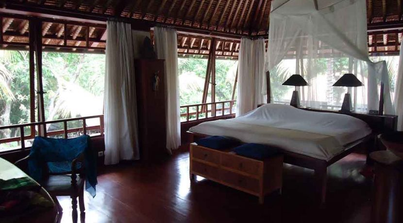 north east bali beach villa for sale master bedroom