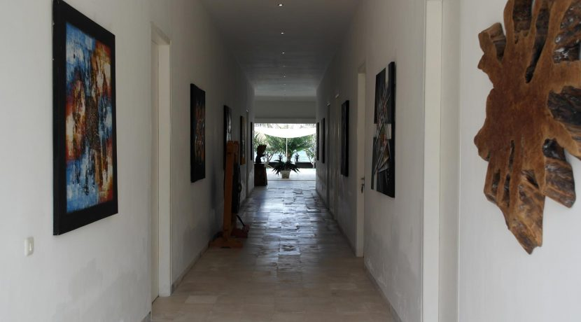 bali oceanfront villa for sale bedroom-hallway
