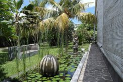 bali oceanfront villa for sale fish pond