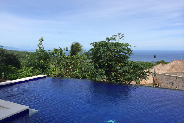 Bali ocean view villa with private pool