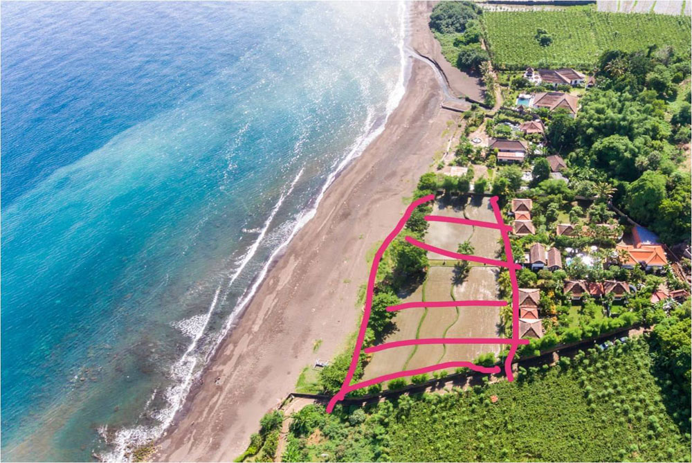 Bali beachfront land for sale
