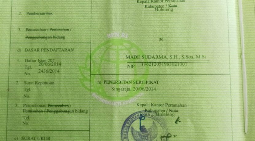 North-bali-hillside-land-for-sale-certificate